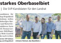 Vorstellung der SVP-Kandidaten für den Landrat